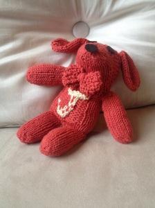 knit dog pattern